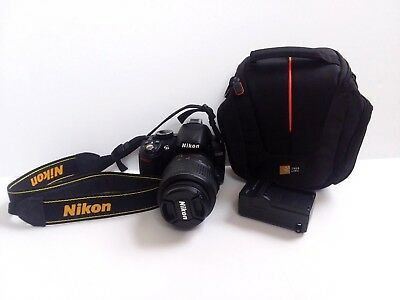 Nikon D3100 14.2MP Digital SLR Camera Black w/ AF-S DX VR 18-55mm Lens & Case