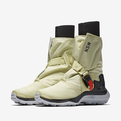 detailed look 1a55f b9909 Womens Nike Lab NSW Gaiter Boot Shoes Size 7 Pale Citron Black AA0528 700