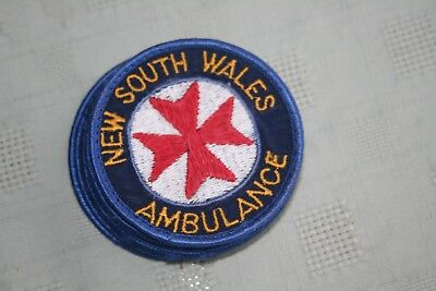 Vintage Obsolete N.S.W.Amblunce Patches With Thick Red Centre