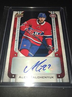 2018-19 Upper Deck Tim Hortons NHL Signatures ALEX GALCHENYUK