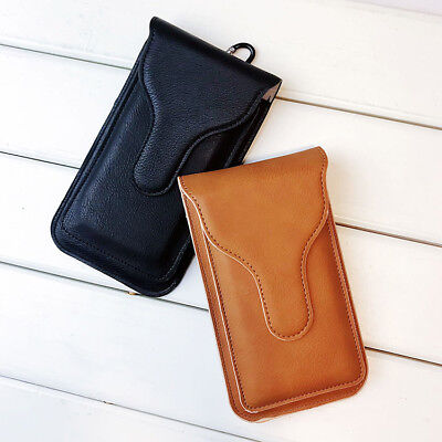 Universal Vertical Leather Case Cover Pouch Holster Loop For Large Cell Phone