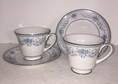 Noritake Blue Hill set of two to Cup and Saucer   EXCELLENT