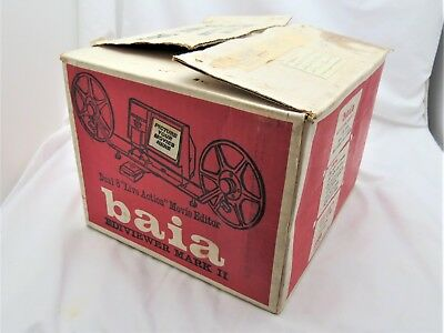 Vintage Baia Ediviewer Dual 8 Movie Editor In Box With Instructions & Tape Works