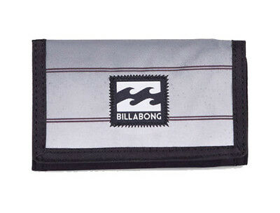 New + Tag Billabong Atom Tri-Fold Boys Mens Kids Wallet Surf Black Str Polyester