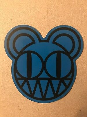 "Rare Radiohead Kid A ""blue bear"" promo sticker!! Muse Arcade Fire Pixies Nirvana"