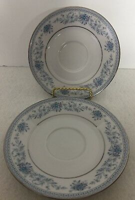 Noritake Blue Hill Contemporary Fine China set of two Saucers  2482!