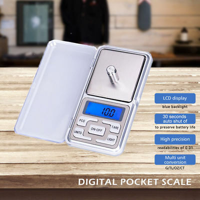 Electronic Pocket Mini Digital Gold Jewelry Weighing Scale 0.1-500g Weight