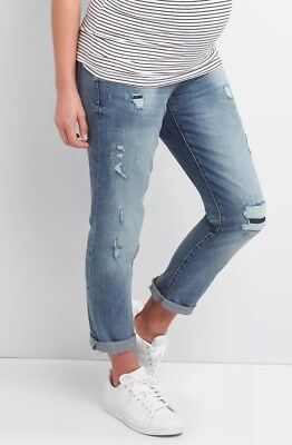 Gap Maternity Full Panel Repaired Best Girlfriend Jeans - NWT 4