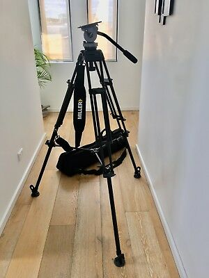 Miller Fluid head DS10 2 Stage Alloy Tripod 832 with carry bag
