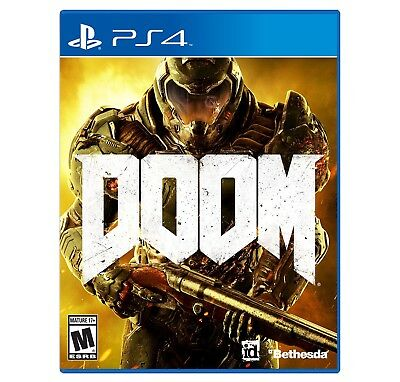 Brand New Sealed In Box Playstation Hits Doom PS4 Videogame Bethesda