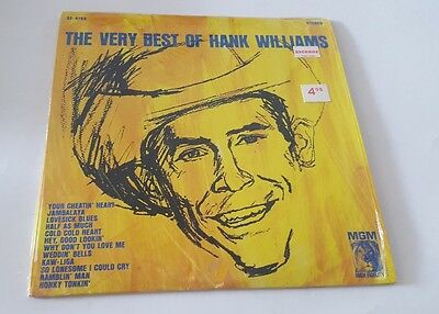 Hank Williams LP, The Very Best Of Of Hank Williams, MGM SE- 4168, PLASTIC ON!!!