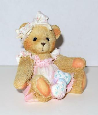 Cherished Teddies HEARTS QUILTED WITH LOVE Figurine from 1992