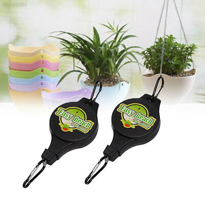 9D96 Retractable Basket Pull Down Hanger Accessories Plant Hook Easy Reach Conve