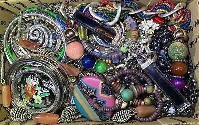 Huge Vintage - Now Jewelry Lot Estate Find Junk Drawer UNSEARCHED UNTESTED #104