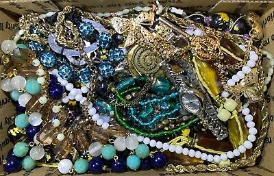Huge Vintage - Now Jewelry Lot Estate Find Junk Drawer UNSEARCHED UNTESTED #106