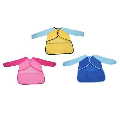Baby Toddler Waterproof Long Sleeve Children Kids Feeding Art Smock Bib Apron FW