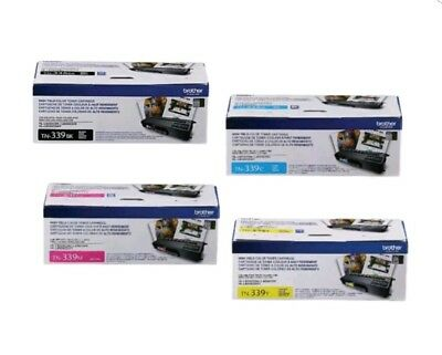 Genuine Oem Brother Tn339Bk Tn339C Tn339Y Tn339M Toner Set (4-Pack)