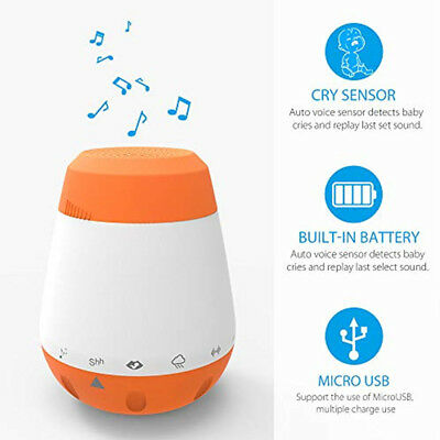 Voice Sensor Therapy Sound Music Portable Baby Sleep Soother Machine White Noise