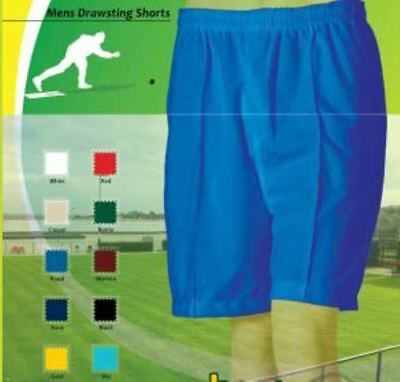 Bowls Australia Mens Comfit Fit SHORTS Drawstring Waist 10 colours XS - 4XL, 6XL