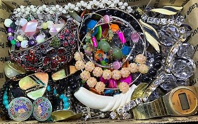 Huge Vintage - Now Jewelry Lot Estate Find Junk Drawer UNSEARCHED UNTESTED #108