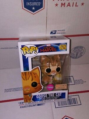 Funko Pop Captain Marvel: Flocked Goose The Cat #426 Boxlunch Exclusive. In Hand