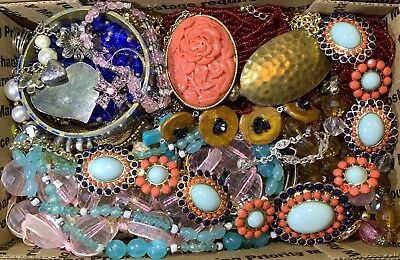 Huge Vintage - Now Jewelry Lot Estate Find Junk Drawer UNSEARCHED UNTESTED #109