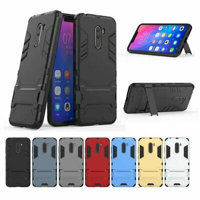 Heavy Duty Shockproof Hybrid Armor Rugged Kickstand Case Cover For Xiaomi Phones