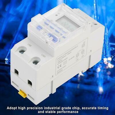 TM615H-2 30A AC Digital LCD 35MM DIN rail Programmable Timer Time  Switch 220V