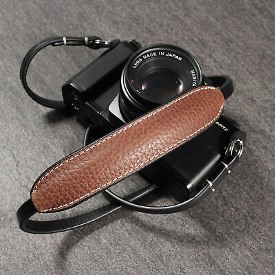 CANPIS Leather Camera Strap with Shoulder Pad, Lengthened Shoulder Neck Strap