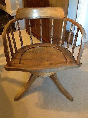 Vintage Timber Captains Office Swivel Chair