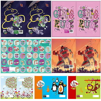 Reusable School Exercise Book Cover size 23.1 * 18.1 cm (9*7 inch) 32 options