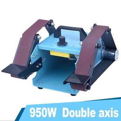 950W Bench Belt Sander Desktop Double Belt Grinder Sanding Machine Polishing od3