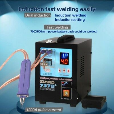 737G+  4.3KW Spot Welder Welding Machine +S-70BN Pen for 18650 Battery od34