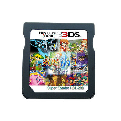 208 IN 1 Games Game Cartridge Multicart For Nintendo DS NDS NDSL NDSi 3DS 2DS XL