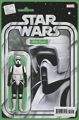 Star Wars #59 Biker Scout Action Figure Variant Marvel Comics Near Mint 1/9/19