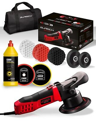 BURISCH HDR2500 DA Polisher + Farecla G360 Super Fast Compound Kit + bag + pads