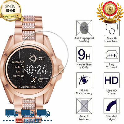 a36c6c65c2a6 3PK MK FULL Face Cover Screen Protector Smart Watch Tempered Gla ...