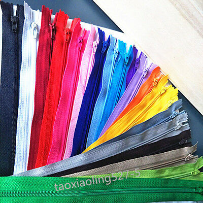10pcs 3# Nylon Coil Zippers Tailor Sewer Craft (6/7/8/10/12/20 Inch) Crafter's