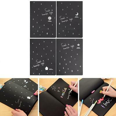 Black 56K Paper Graffiti Notebook Sketch Book Diary For Notepad Drawing Painting