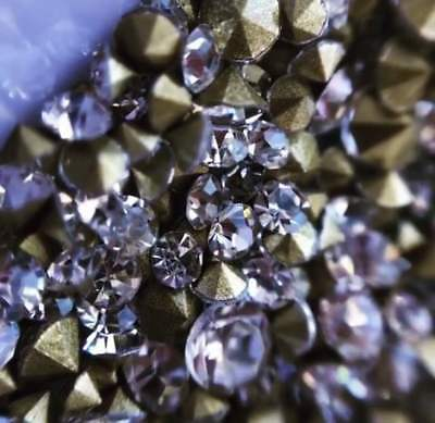 Swarovski Crystals Chaton POINTED back CLEAR AB non hotfix for design jewellery