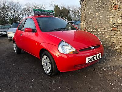 2007 Ford Ka 1.3 Y Style LOVELY RED COLOUR LOW MILES CHEAP BARGAIN NEW MOT !!!!