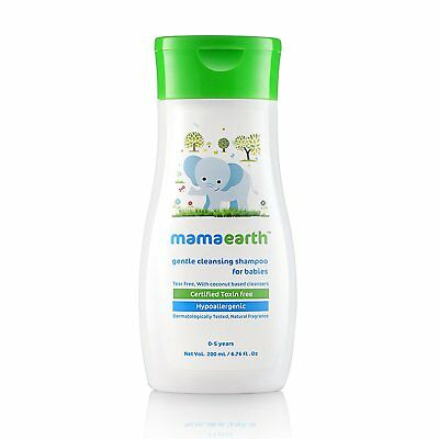 Mamaearth Gentle Cleansing Shampoo for babies (200 ml, 0-5 Yrs) fs