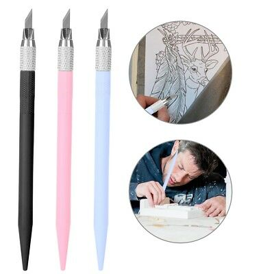 Steel Carving Pen with 12 pcs Replacement Blades Wood Paper Carving Cutting Tool