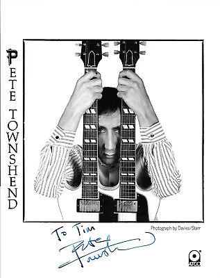 """PETE TOWNSHEND (The Who: Tommy/Quadrophenia) Hand-signed 10"""" x 8"""" portrait"""
