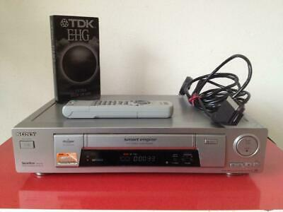 Sony SLV-SX700 VHS Video Cassette Recorder NTSC + Remote HiFi Stereo + Works