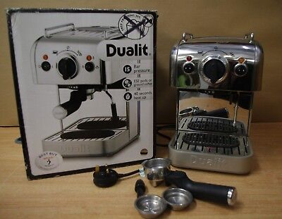 Boxed Dualit Coffee System Model DCM2 3 in 1 Expresso Machine 15 Bar Pressure