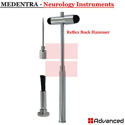 Medical Buck Hammer Neurological Reflex Babinski Diagnostic Built-in Brush & Pin