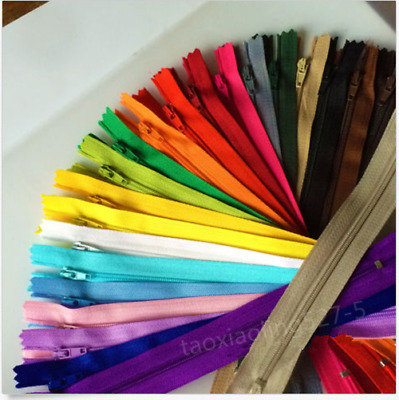 50~100pcs Nylon Coil Zippers Tailor Sewer Craft (6/7/8/10inch) Crafter's &FGDQRS