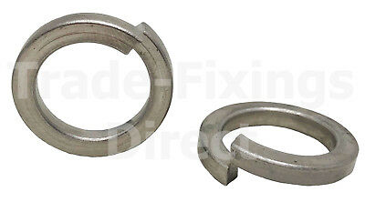 A2 Stainless Steel Spring Lock Coil Washers Square Section Din 7980