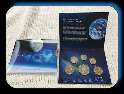 2019 Six Coin Uncirculated Year Set 50th Anniversary of the Moon Landing
